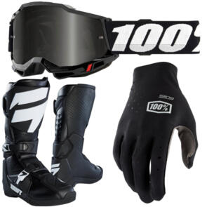 100% ACCURI SAND 2 + SLING MX + WHIT3 LABEL BOOTS COMBO
