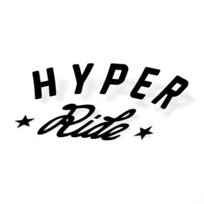 HYPER RIDE VINYL STICKER BLACK A5