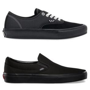 VANS CSO ALL BLACK & SKATE AUTHENTIC BLACK/BLACK COMBO