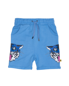 BAND OF BOYS BLUE TIGER KING RELAXED SHORTS LIGHT BLUE