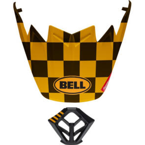 BELL HELMETS MOTO-9 (MIPS & FLEX) VISOR/MOUTHPIECE KIT  FASTHOUSE CHECKERS MATTE