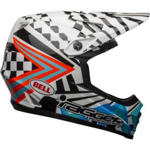 BELL HELMETS MOTO-9 YOUTH MIPS TAGGER CHECK ME OUT WHITE/BLACK
