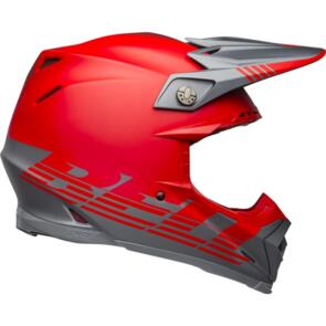 BELL MOTO HELMETS MOTO-9 FLEX LOUVER MATTE GRAY/RED