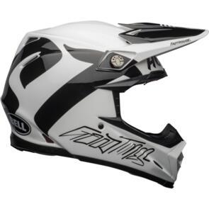 BELL MOTO HELMETS MOTO-9 FLEX FASTHOUSE NEWHALL GLOSS WHITE/BLACK