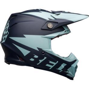 BELL MOTO HELMETS MOTO-9 FLEX BREAKAWAY MATTE NAVY/LIGHT BLUE