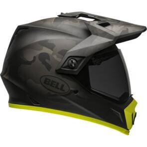 BELL MOTO HELMETS MX-9 ADV MIPS STEALTH CAMO MATTE BLACK/HI VIZ