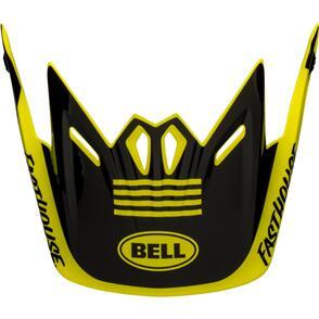 BELL HELMETS MOTO-9 YOUTH VISOR FASTHOUSE BLACK/WHITE