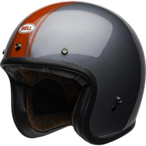 BELL MOTO HELMETS CUSTOM 500 RALLY GRAY/RED