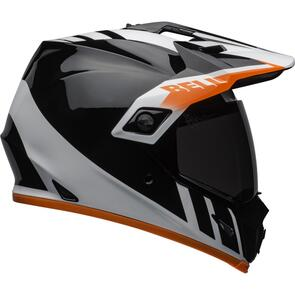 BELL MOTO HELMETS MX-9 ADV MIPS DASH GLOSS BLACK/WHITE/ORANGE