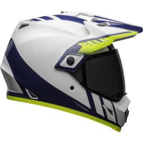 BELL MOTO HELMETS MX-9 ADV MIPS DASH GLOSS WHITE/BLUE/HI VIZ