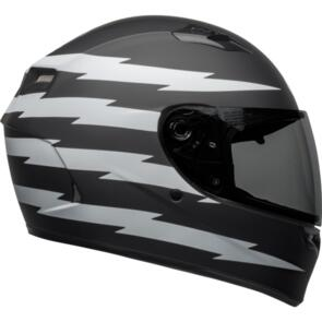 BELL MOTO HELMETS 2021 QUALIFIER Z RAY MATTE BLACK/WHITE