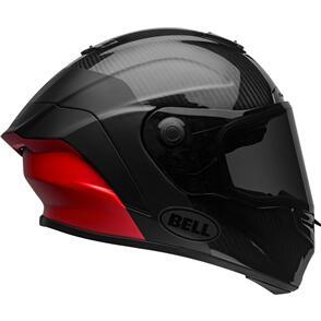 BELL MOTO HELMETS RACESTAR FLEX DLX LUX MATTE/GLOSS BLACK/RED
