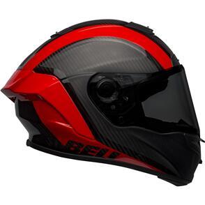 BELL MOTO HELMETS BELL RACESTAR DLX TANTRUM MATTE/GLOSS BLACK/RED