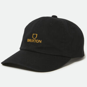BRIXTON ALPHA LP CAP BLACK/GOLD
