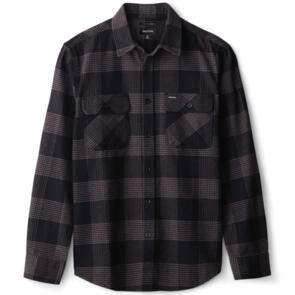 BRIXTON BOWERY L/S FLANNEL BLACK/CHARCOAL
