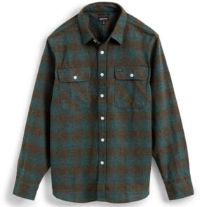 BRIXTON BOWERY L/S FLANNEL OCEAN