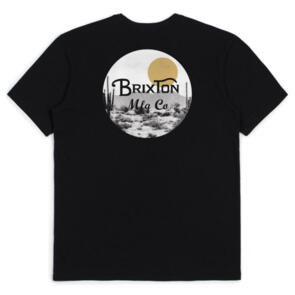 BRIXTON WHEELER II S/S TAILORED TEE BLACK/BLONDE