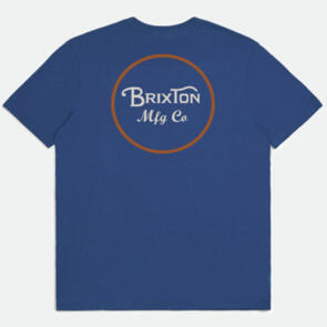 BRIXTON WHEELER II S/S TAILORED TEE MARINE BLUE