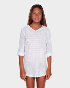 BILLABONG YOUTH SOL BEACH COVERUP WHITE