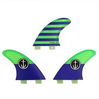 CAPTAIN FIN CF GROM FCS TRI FIN GREEN BLUE - FCS - XS