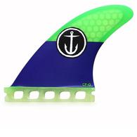 CAPTAIN FIN CF GROM TRI FIN GREEN BLUE - FUTURES - XS