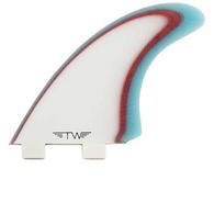 CAPTAIN FIN TYLER WARREN TWIN FIN BLUE WHITE - FCS