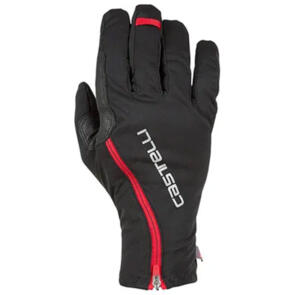 CASTELLI GLOVE SPETTACOLO ROS LONG FINGER BLACK/RED -