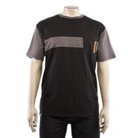 CHROMAG CHROMAG ACCUMEN SHORT SLEEVE TEE SHIRT W/ POCKET (BLACK/HEATHER)