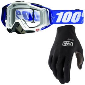 100% 2020 RACECRAFT + SLING MX GLOVES WHIP COMBO