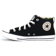 CONVERSE CT STREET CANVAS AND SUEDE BLACK WHITE BLACK