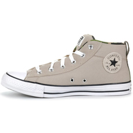 CONVERSE CT STREET CANVAS AND SUEDE PAPYRUS WHITE BLACK