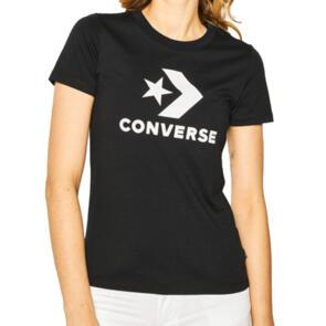 CONVERSE WOMENS STAR CHEVRON CENTER FRONT TEE BLACK