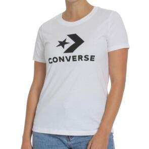 CONVERSE WOMENS STAR CHEVRON CENTER FRONT TEE WHITE