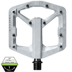CRANK BROTHERS PEDAL STAMP 2 RAW SILVER V2