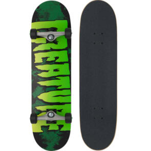 CREATURE LOGO LARGE GREEN SK8 COMPLETES 8.25IN X 31.5IN