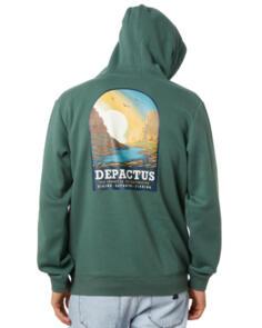 DEPACTUS JOURNEY FLEECE HOOD SAGE