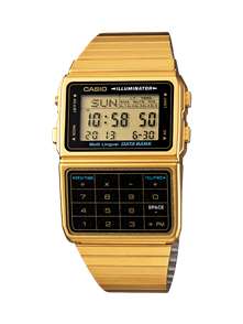 CASIO GOLD RETRO VINTAGE CALCULATOR WATCH