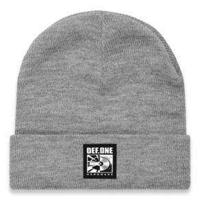 DEF SUB BEANIE (WOVEN PATCH) HEATHER GREY