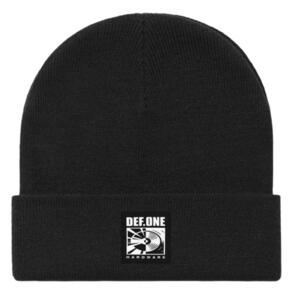 DEF SUB BEANIE (WOVEN PATCH) BLACK