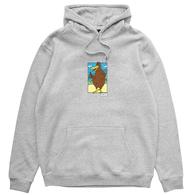 DEF X SMIDDY NATIVE BIRD HOOD HEATHER GREY
