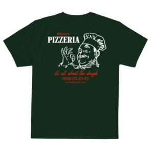 DEF CHIZA'S PIZZERIA TEE FOREST GREEN