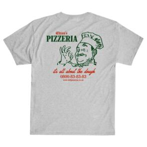 DEF CHIZA'S PIZZERIA TEE HEATHER GREY