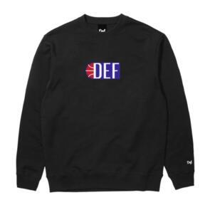 DEF ALLEY-OOP CREW (300GSM) BLACK