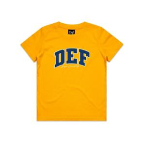 DEF SUPER YOUTH TEE GOLD