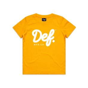 DEF SIGNATURE YOUTH TEE GOLD