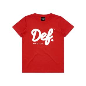 DEF SIGNATURE YOUTH TEE RED
