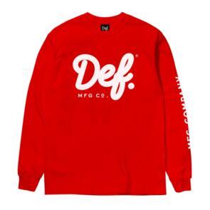 DEF SIGNATURE LS TEE RED