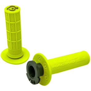 DEFY MX LOCK ON GRIPS 1/2 WAFFLE SOFT COMPOUND INCLUDES 4 STROKE THROTTLE