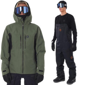RIP CURL SNOW 2021 BACKCOUNTRY FOREST + TAIPAN BIB PANT COMBO!