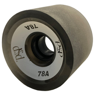 DOUBLE$DOWN LONGBOARD WHEELS TRANS BLACK 69MM